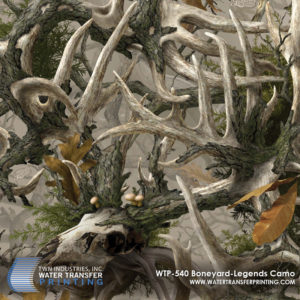 Boneyard Legends™ Camo features massive whitetail buck skulls and a few leaf elements scattered in a randomized fashion. Created for hunters and outdoorsmen, Boneyard Legends™ is a designer camouflage that can be used in everyday life and function as concealment while outdoors.