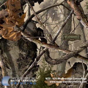 Weatheridge Camouflage is brought to you by Boneyard Camo™. This pattern features a high-definition bark texture that blends in with virtually any wooded or rocky environment.