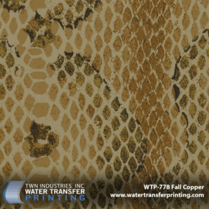 Snakeskin Illusion Fall Copper is a snake skin pattern that features a design and coloration that is taken directly from the copperhead snake. The gold and brown tones found within this pattern make it the ultimate camouflage during the Fall hunting season.