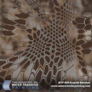 Kryptek® Banshee features dark browns and hazy shadows. The pattern has been extensively tested and proven extremely effective in hardwood, tree-stand hunting applications during the fall/winter foliage cycle.