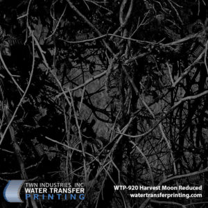 Harvest Moon Reduced hydrographic film by Moon Shine Camo® is a dark camouflage that is perfectly suited to coat your favorite hog hunting gear and other small accessories. This mysterious and stealthy camouflage is stern and assertive.