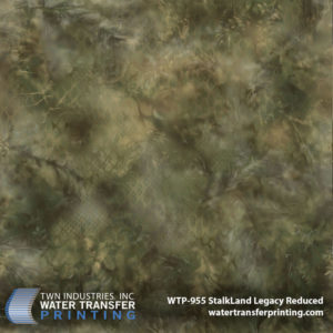Developed by veterans at Sniper Dynamics, StalkLand Legacy Reduced is very similar to our original StalkLand Legacy Water Transfer Printing film but was downsized by 66%. Additional netting and terrain effects were also added to the pattern to provide more detail on smaller items. This pattern provides a combination of distorted shapes and shadows that allow the design to take on the form of any surrounding terrain.