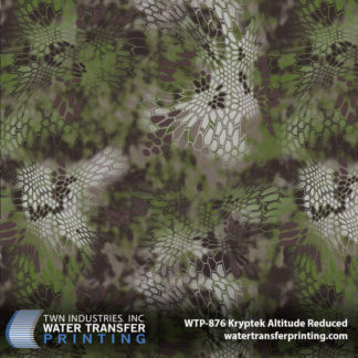 Kryptek Altitude Reduced hydro dip film features a technical concealment pattern designed to perform above the tree line where the air is thin and the cover is sparse. Kryptek Altitude camouflage allows you to retake the high ground and close the gap on that prize bighorn sheep. This reduced version of Kryptek Altitude is downsized by 35% from the original pattern so it can be used to dip smaller items like hunting knives, bows, handguns, and more.